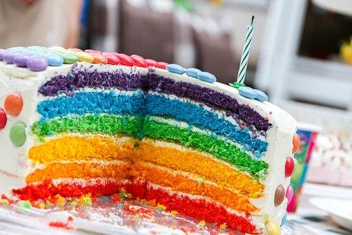 barevný dort