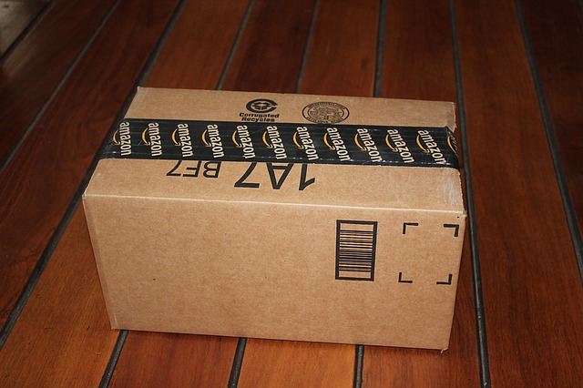 zalepená krabice